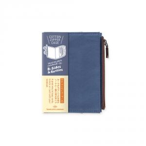Pochette en coton ( passeport ) Traveler's Notebook - Bleu