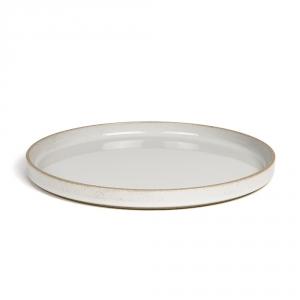Grande assiette - Gris émaillé - Hasami Porcelain