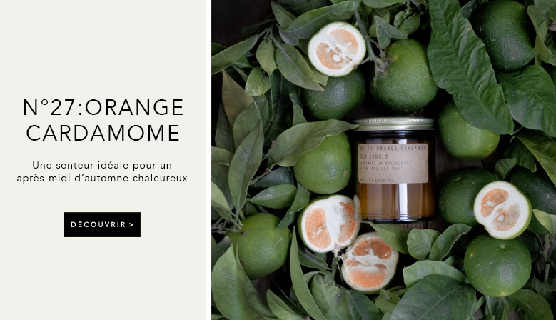 bougie pf candle orange cardamome